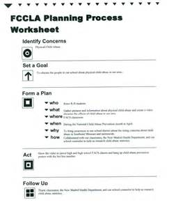 Fccla Planning Process Template by Fccla Planning Process