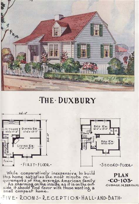 retro style home plans from the 1950s and 1960s