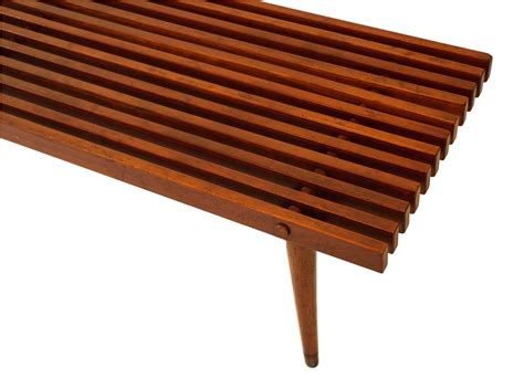 bench styles mid century slatted wood bench coffee table george nelson