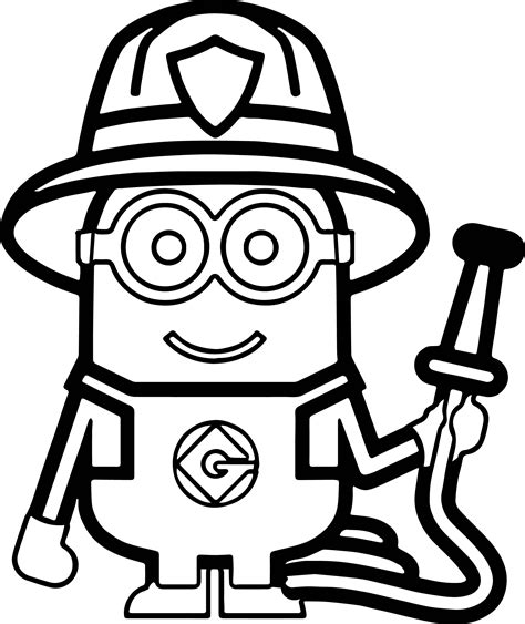 minion fireman coloring page minions fireman coloring page more pins like this one at