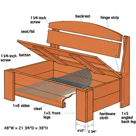 bench parts overview how to build a bench with hidden storage this