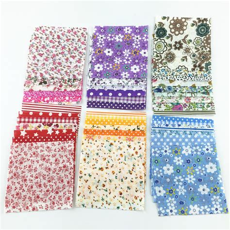 Patchwork Fabric Packs - 30 pcs lot 10cmx10cm color random cotton fabric charm