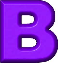s colored presentation alphabets purple refrigerator magnet b