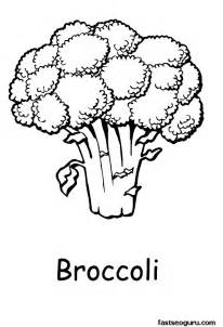 broccoli coloring page az coloring pages broccoli
