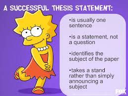 thesis statement sentence how to write a thesis statement ielts advantage lisa simpson on thesis statements amp topic sentences