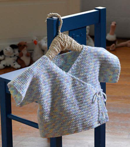 Crochet Pattern Baby Kimono   ravelry baby kimono pattern by lion brand yarn crochet