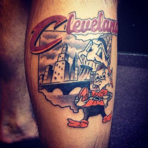 cavs tattoo 17 awesome tattoos from cleveland s fans