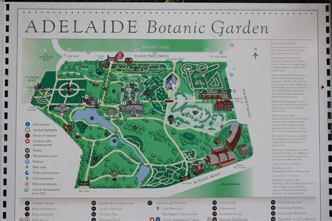 Map Of Melbourne Botanical Gardens Postcards From The Edge Of The City Adelaide