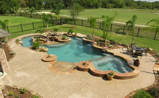 Backyard Pool With Lazy River Lazy River Pool Backyard Patio Landscaping