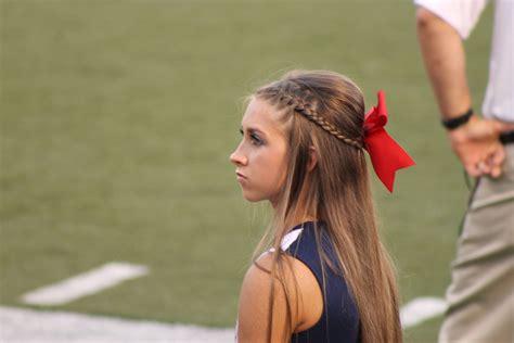 cheerleader hairstyles images pin by elsye jones on cheer accessories and unis pinterest