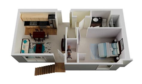 Small One Bedroom House Plans | 1 bedroom small house plan interior design ideas
