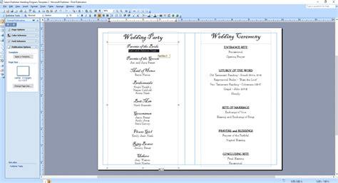 christian and catholic wedding program templates and program