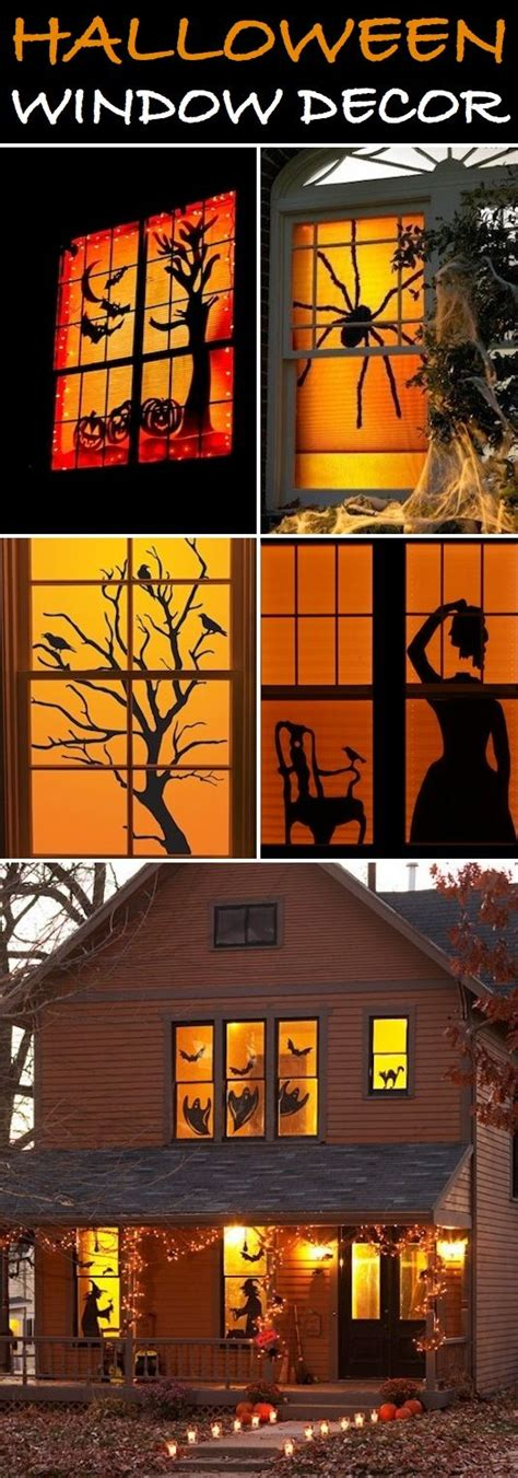 easy home halloween decorations homemade halloween window decoration ideas car interior