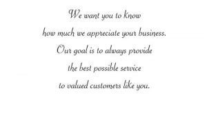 Card Wording For Business Clients