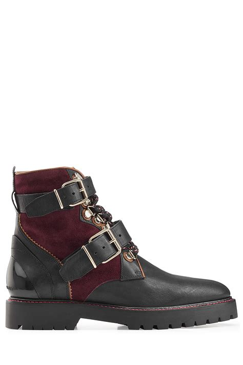 burberry boots for burberry utterback leather and suede ankle boots