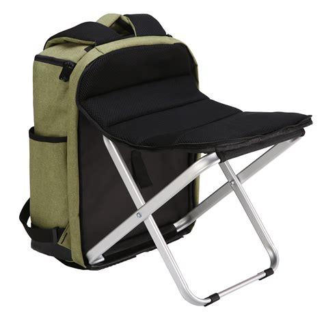 folding fishing chair backpack fishing chair 20 35l folding stool backpack travel chair