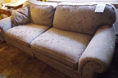 leaf pattern sofa sofa in brown ribbed fabric w leaf design