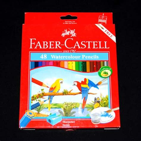 Pensil Warna Faber Castell 24 Warna Watercolor Per 36 Set pensil warna faber castell watercolour 48