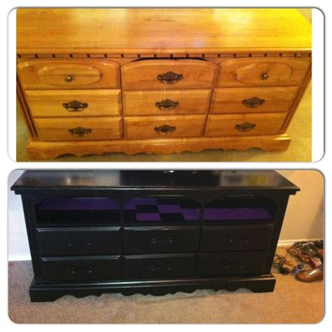 dresser turned into a tv stand entertainment center