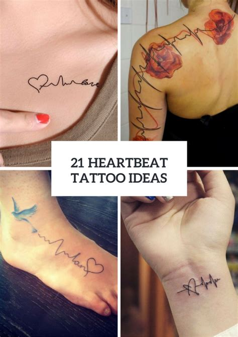21 heartbeat tattoo design ideas for ladies styleoholic