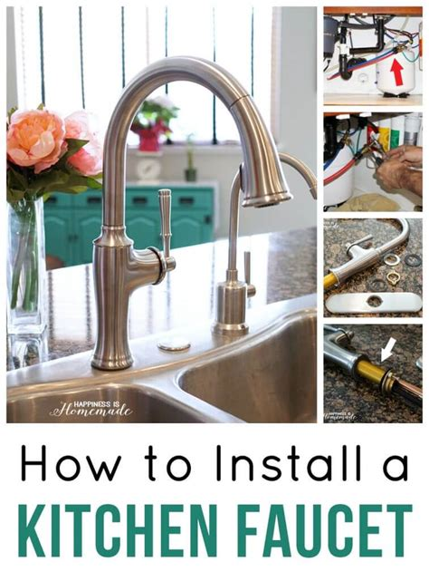 install kitchen faucet how to install a kitchen faucet happiness is