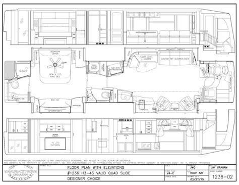 prevost floor plans 2016 prevost marathon h3 45quad slide 1236