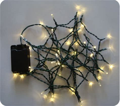 battery operated outdoor lights white warm white 50 led lights 5m green cable battery