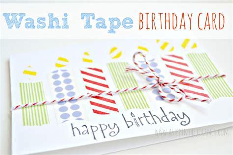 Diy Birthday Card Using Washi