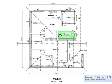 kerala house floor plans kerala single floor house plan 1270 sq ft