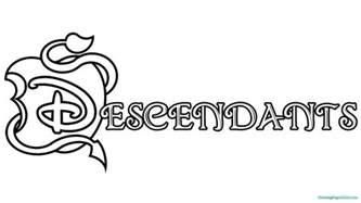descendants coloring pages colotring pages