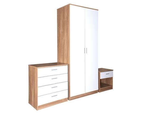 white oak bedroom set madrid high gloss white oak veneer 3 piece bedroom collection
