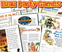 hawaiian themed party games mad moose mama luau party games pack from python