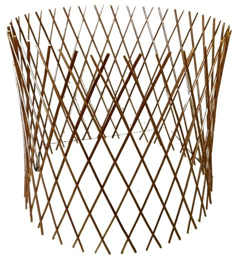 expandable trellis fencing peeled willow circular lattice fence expandable to 24 quot h x