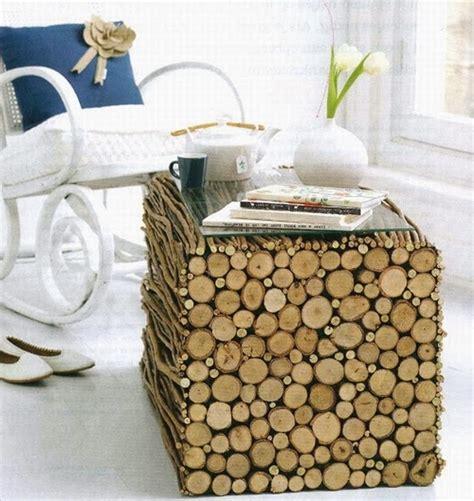 Diy Log Coffee Table Diy Log Coffee Table Idea Goodiy