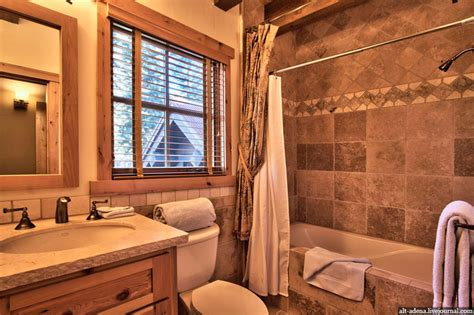 wooden house bathroom mountain style home decorated in rustic style