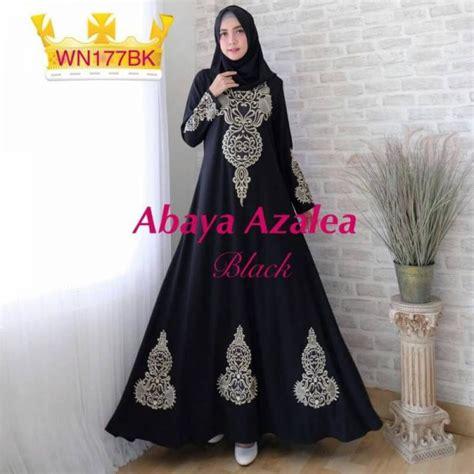 Gamis Abaya Maxi Syari Bordir Cocok Untuk Formal Casual gamis pesta bordir abaya azalea baju muslim murah