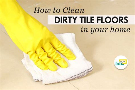 clean dirty tile floors  vinegar  baking soda fab