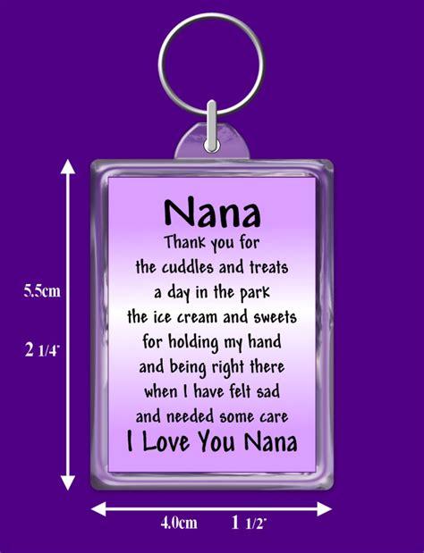 nan gifts for nana verse keyring keepsake gift for your nana ebay