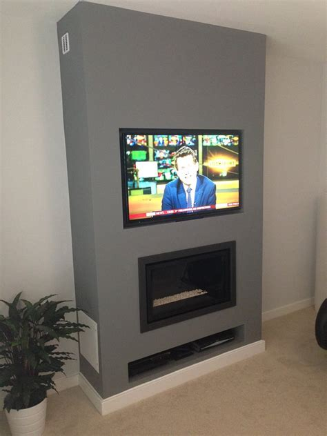 Gas Fireplace With Tv by Gazco Studio 1 Gas Fire With Tv Above