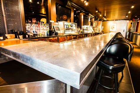 bar top lucky strike zinc bar top porter barn wood