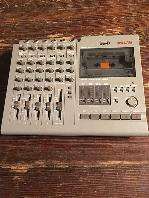 tascam portastudio cassette tascam 424 portastudio 4 track cassette recorder fully