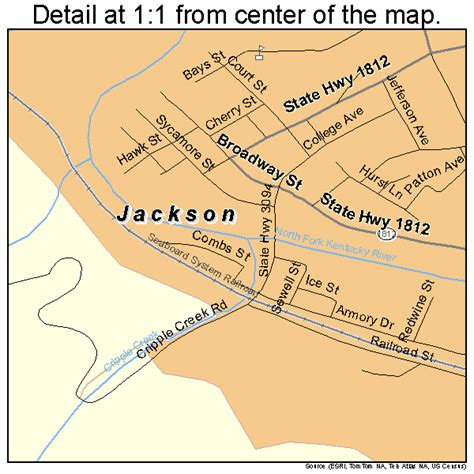 jackson kentucky map jackson kentucky map 2139952