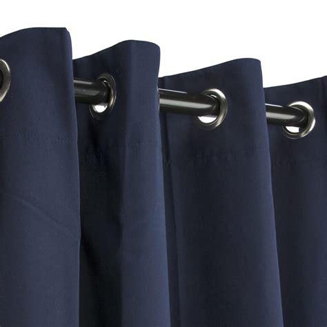 navy curtain navy grommeted sunbrella outdoor curtains
