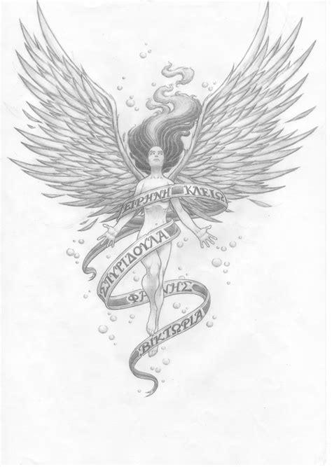 tattoo sketch angel angel of sorrow tattoo sketch by willietimes on deviantart
