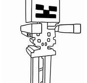 Desenho De Skin Cartoon Minecraft Para Colorir  Tudodesenhos