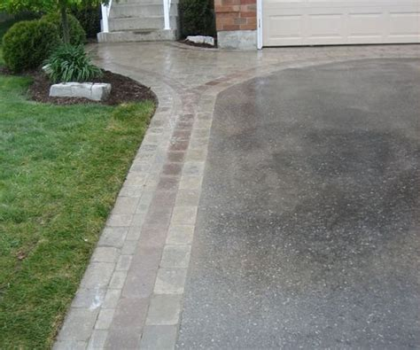 asphalt driveway with interlock border google search front of house porch pinterest