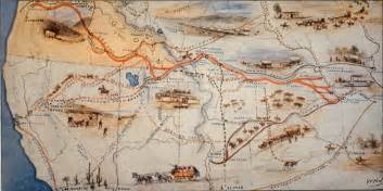 The Oregon Trail Map by A Map Showing The Westward Trail From Missouri To Oregon