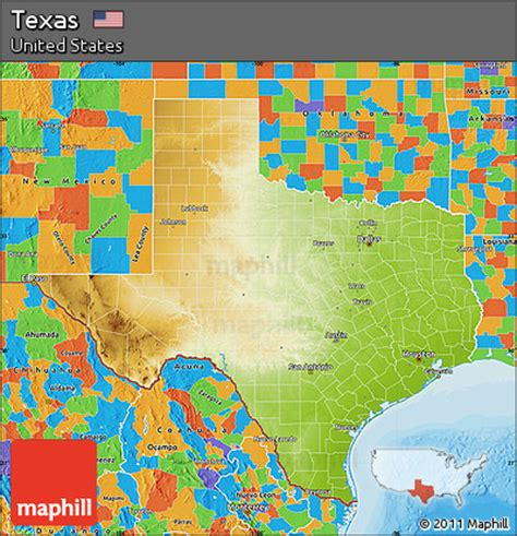 physical maps of texas free physical map of texas political outside