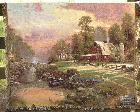 tapestry throws couch thomas kinkade mohawk home twilight cottage tapestry
