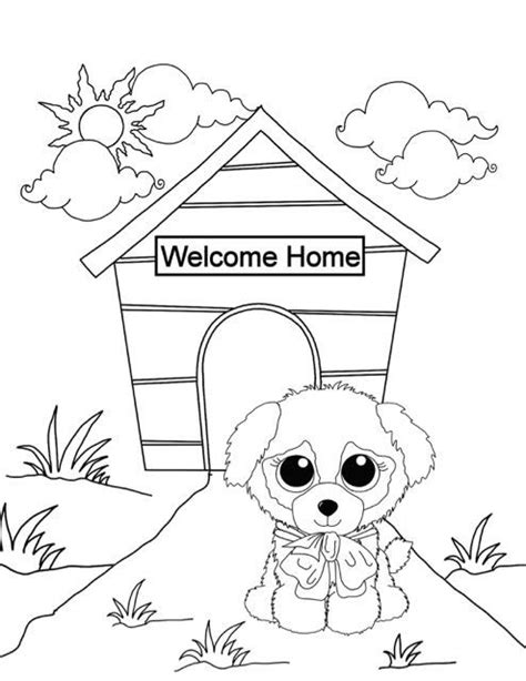 coloring pages of boo the dog beanie boo coloring pages new puppy free downloadable